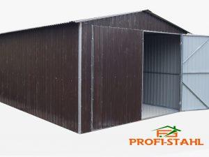 Plechová garáž sedlová strecha 3,5x5 szín