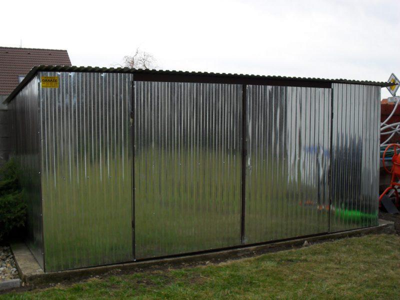 Plechová garáž hátra lejto 4×6