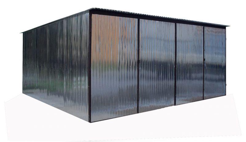 Plechová garáž hátra lejto 6x5