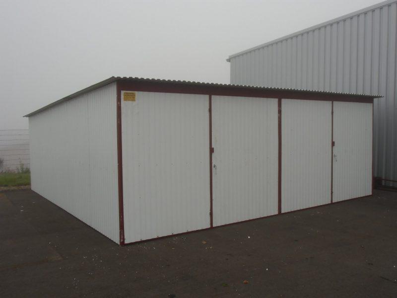 Plechová garáž hátra lejto 6x5 szín