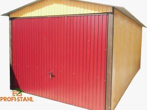 Plechová garáž sedlová strecha 3x5 szín Billenőkapu