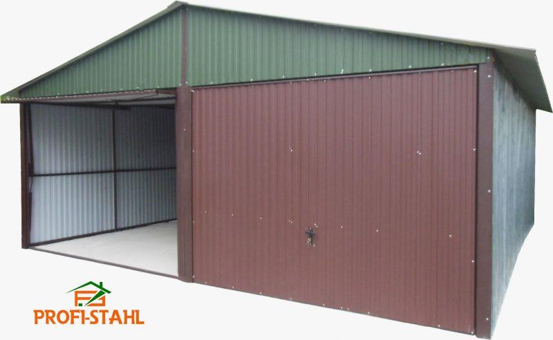 Plechová garáž sedlová strecha 6x5
