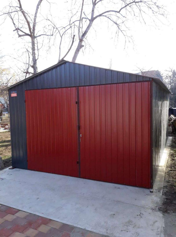 Plechová garáž sedlová strecha 3,5x6