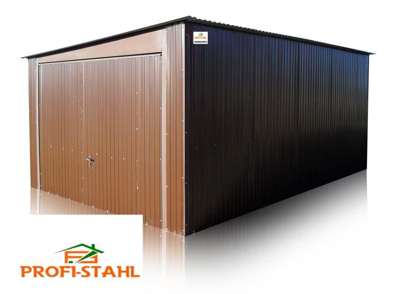 Plechová garáž so spádom na bok 3,5 x 5m