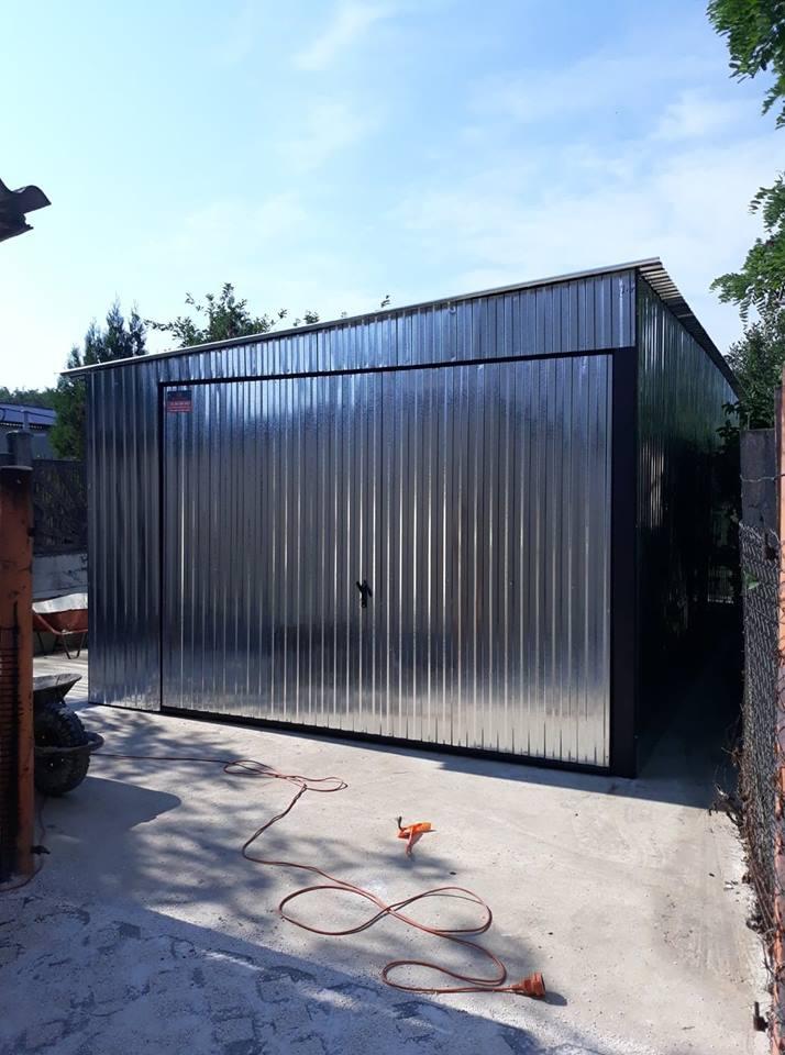 Plechová garáž so spádom na bok 3,5x5m