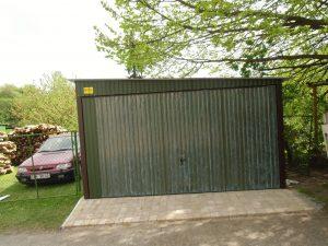 Plechová garáž so spádom na bok 3x5