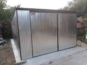 Plechová garáž hátra lejto 3,5x5