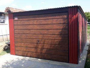 Plechová garáž so spádom strechy dozadu 3,5x5