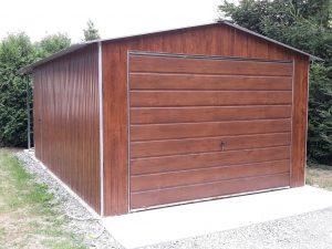 Plechová garáž sedlová strecha 3,5x6m