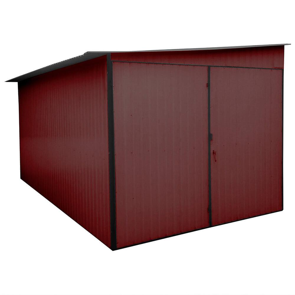 Metaliniai garažai- nuolydis į šoną